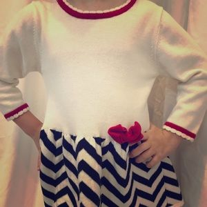 Bonnie Jean 2/2T Red White Dress for little girls